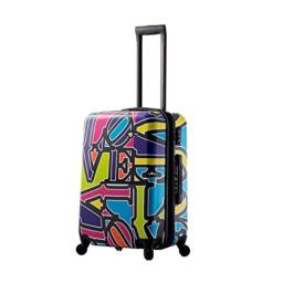 Mia Toro Love Collection Hard Side 24 Inch Spinner, LCP, Purple