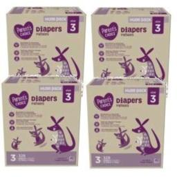 Parent's Choice Diapers, Size 3, 328 Diapers (Mega Box) (Pack of 4)