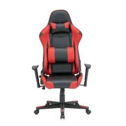Offex Gaming High Back, Height and Tilt Adjustable Gamer/Office Chair with Removable Lumbar and Headrest Pillow, Black and Racing Red PU