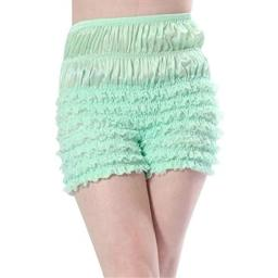 Malco Modes Womens Sexy Ruffle Panties Tanga Dance Bloomers Sissy Booty Shorts (Large, Light Green)
