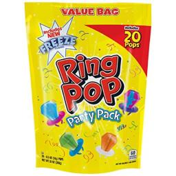 Ring Pop Individually Wrapped Variety Party Pack - 20 Count Candy Lollipop Suckers w/ Assorted Flavors-Stocking Stuffer and Gift Addition