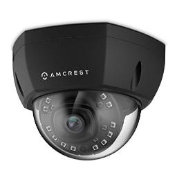 Amcrest ProHD Outdoor 4-Megapixel PoE Vandal Dome IP Security Camera, 2.8mm Lens, IP67 Weatherproof, MicroSD Storage, IK10 Vandal-Proof, IP4M-1028E (Black)