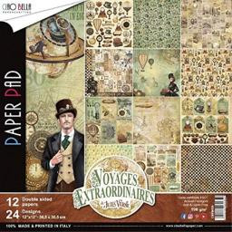 Ciao Bella CBPM020 Voyages Extraordinaires Double-Sided Paper Pk 90lb 12x12 12p