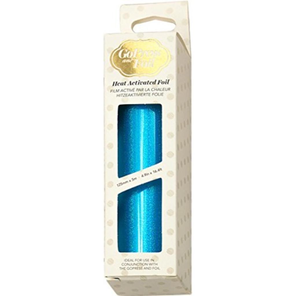 "Artdeco Creations CO726049 5"" x 16.4' Iridescent Sparks Couture Foil, Cyan"