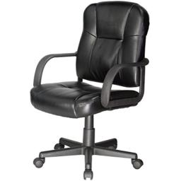 Comfort Products Leather Task Chair with Stress-Reducing Massage, Black