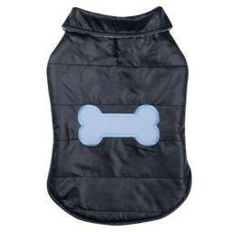 Casual Canine Polyester Snow Puff Dog Vest, X-Small, 10-Inch, Navy