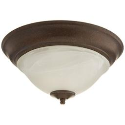 Boston Harbor BRT-ATE1012-RB3L 3563608 Dimmable Ceiling Light Fixture, (2) 60/13 W Medium A19/Cfl Lamp, Rustic, Brown