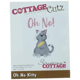 CottageCutz CC-394 Oh No Kitty Die, Multicolor