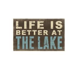 Young's Wood Life is Box Sign, 12 by 1.75 by 7.5-Inch