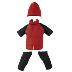 Casual Canine Nylon Dog Snowsuit, X-Small, 8-Inch, Red