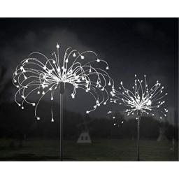 A-POWER Solar Fireworks Light Outdoor 120L Garden Lights�8 Modes Starburst Lights Pathway Patio Lawn Backyard Christmas Party Holiday Wedding Decorative Lights (2 Packs-Cool White)