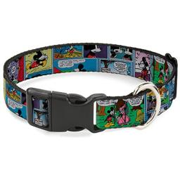 Buckle Down Cat Collar Breakaway Mickey Minnie Comic Strip 8 to 12 Inches 0.5 Inch Wide