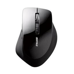 BUFFALO radio(2.4GHz) BlueLED mouse silent type 5 button black BSMBW13BK