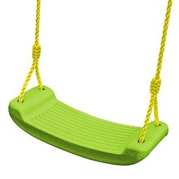 Swing-N-Slide WS 4869 Contoured Rigid Plastic Toddler & Child Seat with Rope, Green