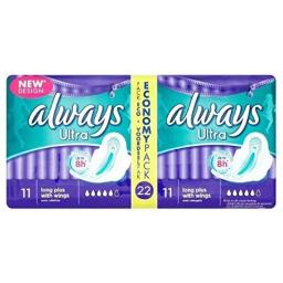 Always Ultra Long Plus with Wings Duo (2x11)