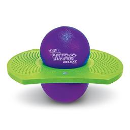 geospace Original LED AIR POgO Jumper Deluxe with MotionActivated Lights (Purplegreen)