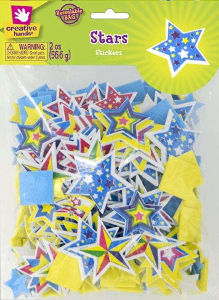 Creative Hands Colorful Star Stickers