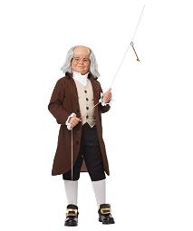 Colonial Man Boys Historical Costume X-Large