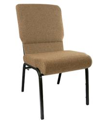 "Offex 18.5"" Wide Mixed Tan Molded Foam Church Chair with Gold Vein Frame"