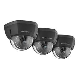 3-Pack Amcrest ProHD Outdoor 1080P PoE Vandal Dome IP Security Camera - IP67 Weatherproof, 2MP (1920 TVL), IP2M-851EB (Black)