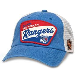 American Needle Ravenswood NHL Team Mesh Hat, New York Rangers, Ivory/Royal (43422A-NYR)