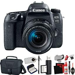 Canon Eos 77D Dslr Camera With 1855Mm Lens (International Model) With Extra Accessory Bundle