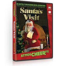 AtmosFX Santa's Visit Digital Decorations DVD for Christmas Holiday Projection Decorating