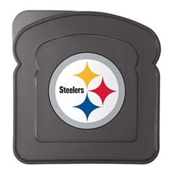 Boelter Brands NFL Pittsburgh Steelers Plastic Sandwich Container Container, Black, 5.5