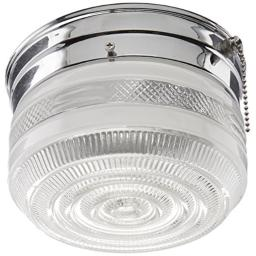 Boston Harbor F13CH01SW-6859CL3 6329197 Dimmable Ceiling Light Fixture with Pull Chain, (1) 60/13 W Medium A19/Cfl Lamp, Chrome