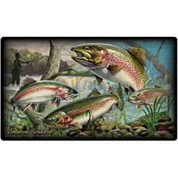 American Expedition Glass Cutting Board - Trout COLLAGE