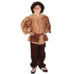 Alexanders Costumes Kids Renaissance Peasant Pants, Brown, Large