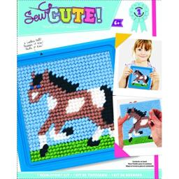 """Sew Cute! Horse Needlepoint Kit-6""""X6"""" Stitched In Yarn"""