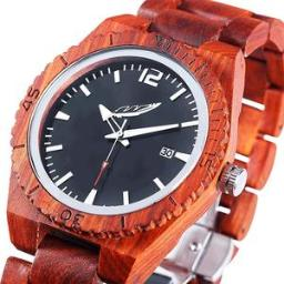 Men's Personalized Engrave Rose Wood Watches - Free Custom E