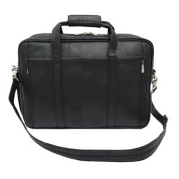 Piel Leather Computer Briefcase, Black, One Size