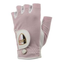 Womens Shorty Half Finger Glove Right Handed S/M, Pink