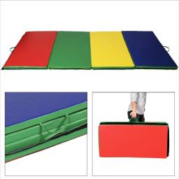 Folding Gymnastics Tumbling Mat Multi-color - 4' x 10' x 2""