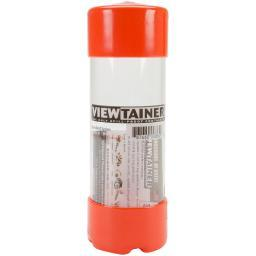 "Viewtainer Slit Top Storage Container 2""X6"" Orange"