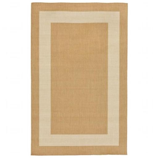 Liora Manne TERR8178622 Wilton Woven Terrace Border 100 Percent Polypropylene Border Rug, Camel - 23 in. x 7 ft. 6 in.