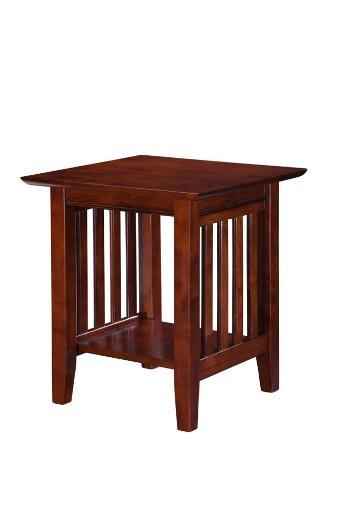 Atlantic Mission End Table Walnut