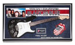 Rolling Stones Signed Guitar - Black And Blue - Fool To Cry - Autographed Coa