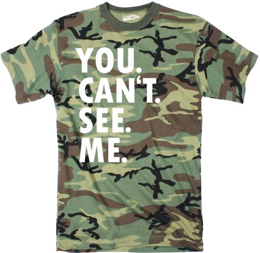 Mens You Cant See Me Tshirt Funny Hiding Hunting Season Camouflage Tee