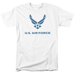 Air Force Distressed Logo Mens Short Sleeve Shirt