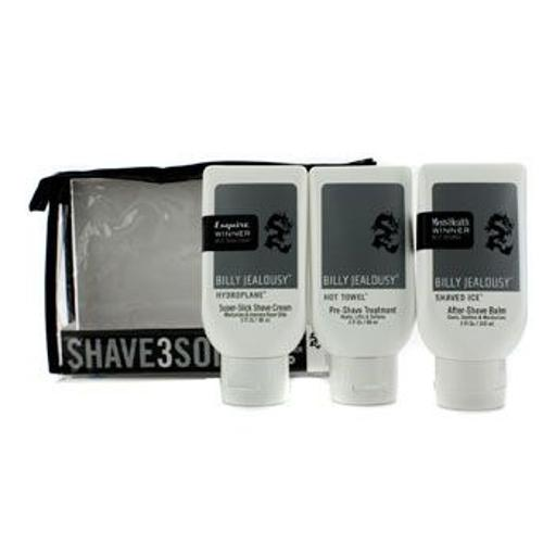 Billy Jealousy Shave3some: Hydroplane Super Slick Shave Cream 88Ml + Hot Towel Pre Shave Treatment 88Ml + Shaved Ice Aft