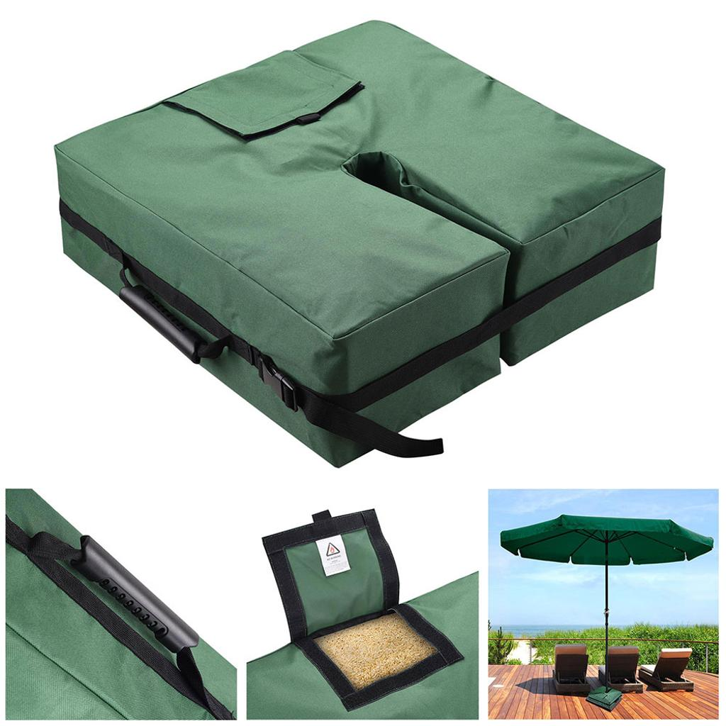 """18"""" Square Weight Sand Bag 600D Canvas Water Resistant for Outdoor Umbrella Offset Cantilever Base Stand Patio Green"""
