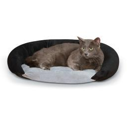 K&H Pet Products 4214 Gray/Black K&H Pet Products Self-Warming Bolster Bed Gray/Black 14 X 17 X 5