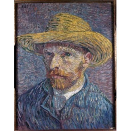 Posterazzi SAL3810315069 Self Portrait with Straw Hat 1888 Vincent Van Gogh 1853-1890 Dutch Oil on Canvas Poster Print - 18 x 24 in.