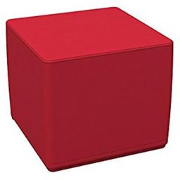 Early Childhood Resources ELR-12748-RD SoftZone 18 in. Cube Standard Ottoman - Red
