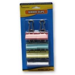 A Plus Homework 2291568 Colored Binder Clips - 8 per Pack, Case of 48