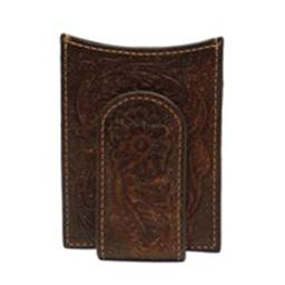 Ariat A3528002 Floral Money Clip, Medium Brown - One Size