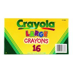 Crayola 520336 crayola large crayons 16 color box 520336